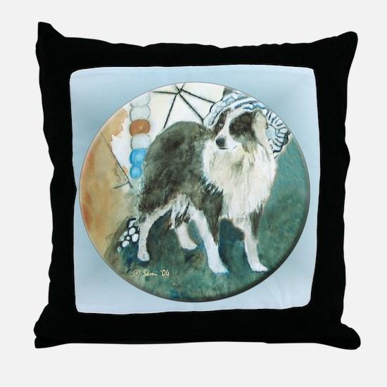 Misty, the Australian Shepherd Throw Pillow