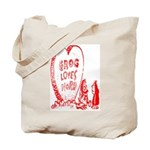 Valentine's Day Cave Man Tote Bag
