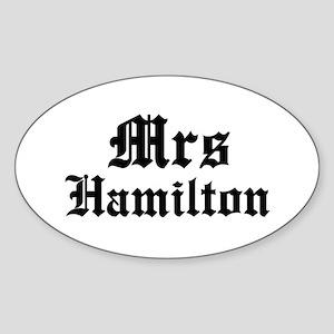 Mrs Hamilton Oval Sticker