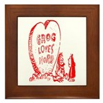Valentine's Day Cave Man Framed Tile