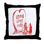 Valentine's Day Cave Man Throw Pillow