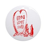 Valentine's Day Cave Man Ornament (Round)