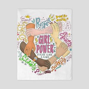 Girl Power Twin Duvet Cover