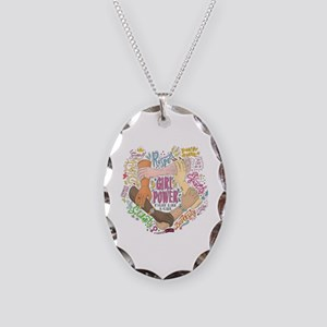 Girl Power Necklace Oval Charm