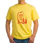 Valentine's Day Cave Man Yellow T-Shirt