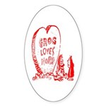 Valentine's Day Cave Man Oval Sticker