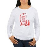 Valentine's Day Cave Man Women's Long Sleeve T-Shi