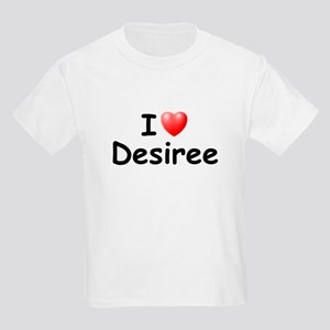 I Love Desiree (Black) Kids Light T-Shirt