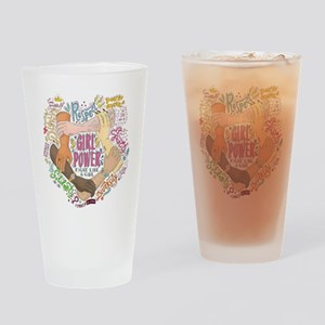 Girl Power Drinking Glass