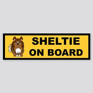 Sheltie On Board (sable) Bumper Sticker