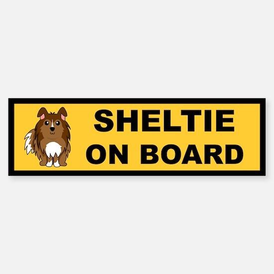 Sheltie On Board (sable) Bumper Bumper Bumper Sticker