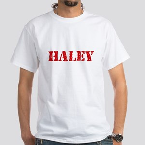 Haley Retro Stencil Design T-Shirt