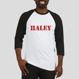 Haley Retro Stencil Design Baseball Jersey