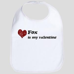 Fox is my valentine Bib