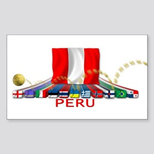 PERU Rectangle Sticker