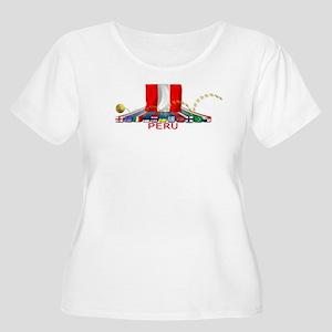 PERU Women's Plus Size Scoop Neck T-Shirt