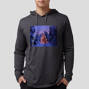 Christmas Tree With Lights Long Sleeve T-Shirt