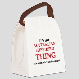 It's an Australian Shepherd t Canvas Lunch Bag
