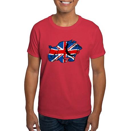 Union Jack Brit Bulldog Dark T-Shirt