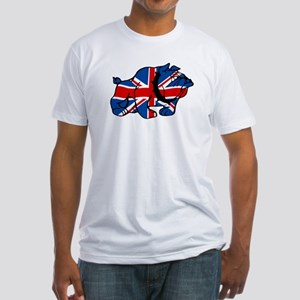 Union Jack Brit Bulldog Fitted T-Shirt