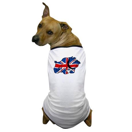 Union Jack Brit Bulldog Dog T-Shirt