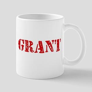 Grant Retro Stencil Design Mugs