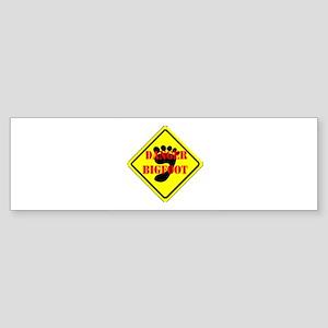BIGFOOT DANGER Bumper Sticker