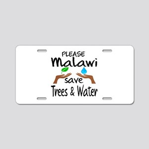 Please Malawi Save Trees & Aluminum License Plate