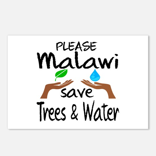 Please Malawi Save Trees Postcards (Package of 8)