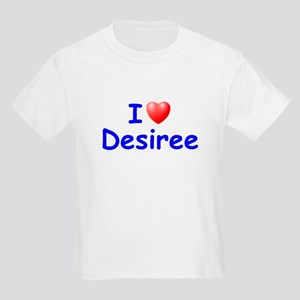 I Love Desiree (Blue) Kids Light T-Shirt