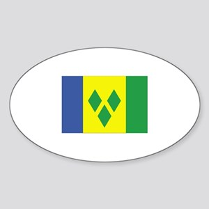 Saint Vincent and the Grenadi Oval Sticker