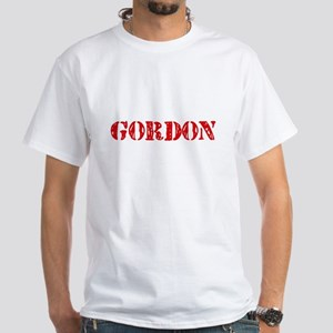 Gordon Retro Stencil Design T-Shirt