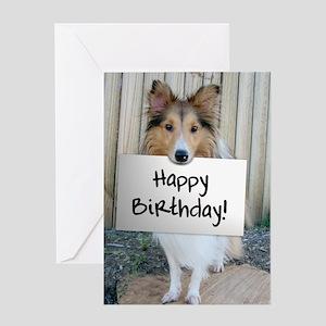 Sheltie Photo Greeting Card