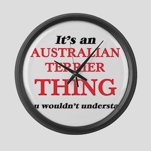 It's an Australian Terrier th Large Wall Clock
