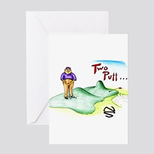 Two Putt Greeting Card