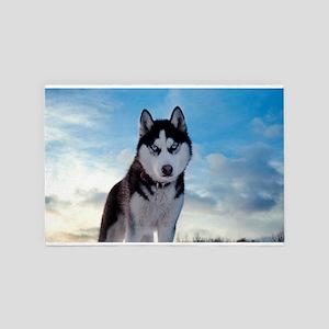 Husky Dog Outdoor 4' x 6' Rug