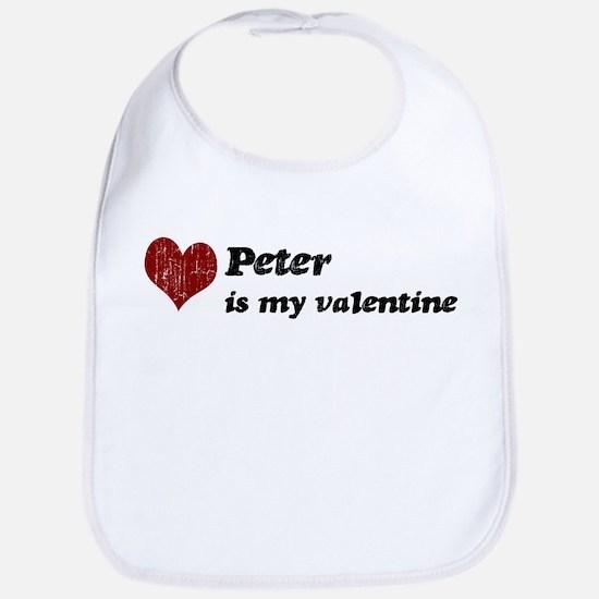Peter is my valentine Bib