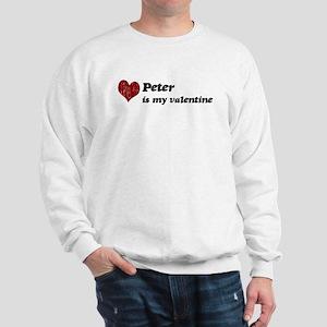 Peter is my valentine Sweatshirt