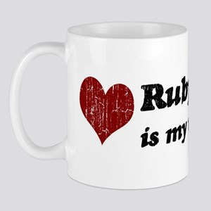 Ruby is my valentine Mug