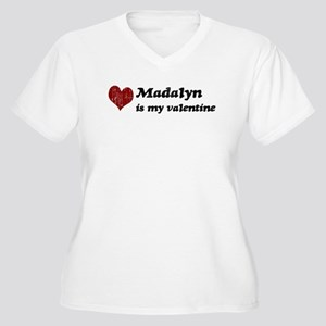 Madalyn is my valentine Women's Plus Size V-Neck T