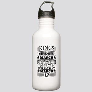Real Kings Are Born On March 17 Water Bottle