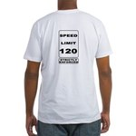 Skydiving Speed Limit 120 Fitted T-Shirt