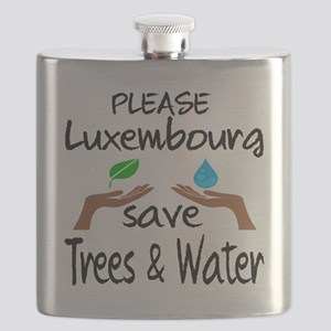 Please Luxembourg Save Trees & Water Flask