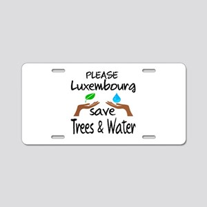 Please Luxembourg Save Tree Aluminum License Plate