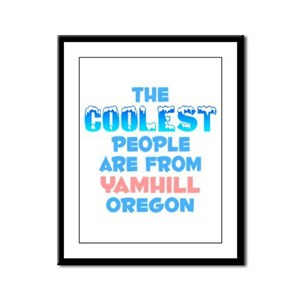 Coolest: Yamhill, OR Framed Panel Print