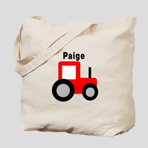 Paige - Red Tractor Tote Bag