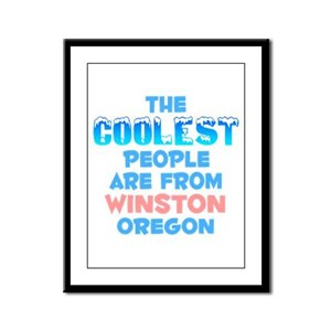Coolest: Winston, OR Framed Panel Print