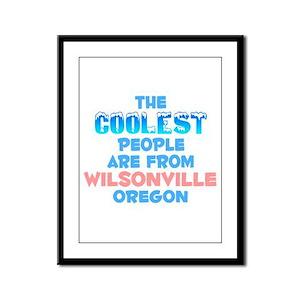 Coolest: Wilsonville, OR Framed Panel Print