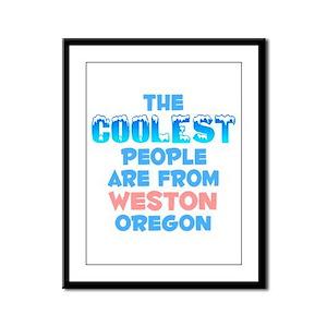 Coolest: Weston, OR Framed Panel Print