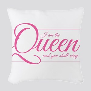 I am the Queen - Obey Woven Throw Pillow